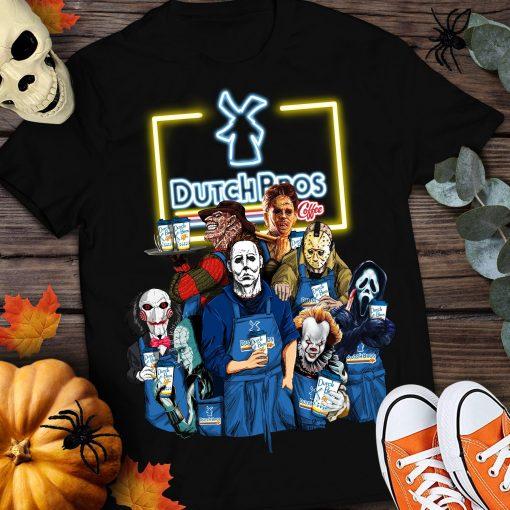 Dutch Bros Coffee Horror Halloween Movies Shirt