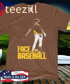 FACE OF BASEBALL TEE SHIRT