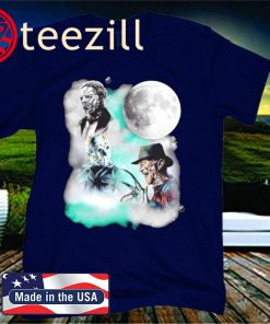 Halloween horror characters moon star official t-shirt