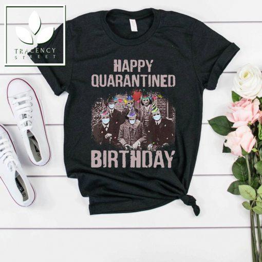 Horror Characters Halloween Scary Movie Quarantine 2020 Birthday Funny T-Shirt Happy Quarantined Birthday Gift For Men Women
