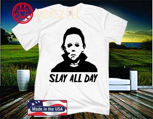 Slay All Day Shirt, Halloween Horror Movie Killers, Friends Halloween Shirt, Halloween Shirt, Funny, Horror Squad, Halloween Horror Friends