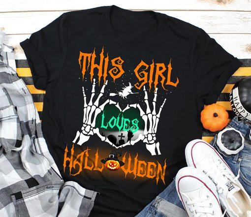This girl loves Halloween 2020 TShirt