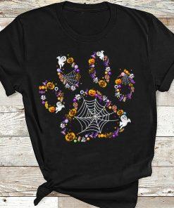 2020 Halloween Dog Paw Print Pet Dog Lovers Halloween Costume T-shirt