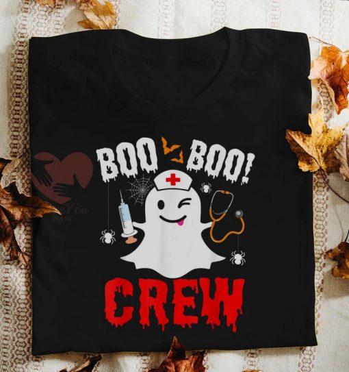2020 Is Boo Sheet Halloween Very Bad Would Not Recommend, Boo Boo Crew Halloween T shirt, Ghost Nurse Halloween T shirt, Halloween Tee