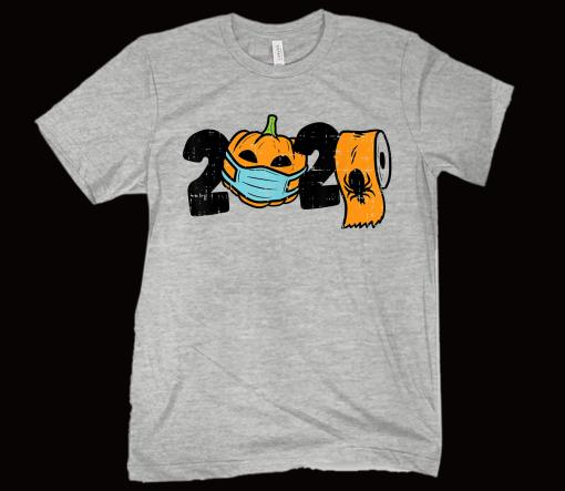 2020 Pumpkin In Mask Toilet Paper Halloween Quarantine T-Shirt