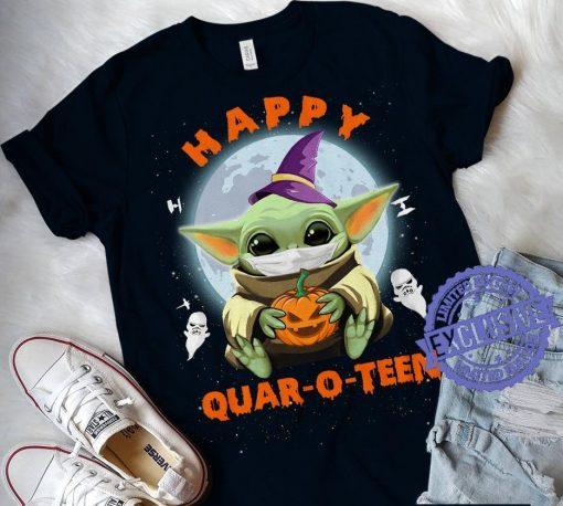 Baby Yoda Happy Quar-O-Teen Halloween 2020 T-shirt
