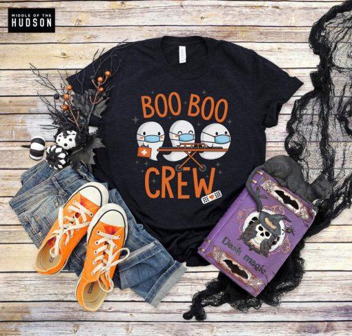 Boo Boo Crew shirts, nurse, doctor, paramedic, emt, halloween shirt, trick or treat, happy halloween