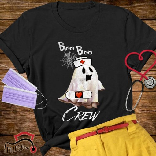 Boo Boo crew Shirt, Funny Halloween Gift, funny nurse Tshirt, Nurse Ghost, Nurse, Halloweenshirt