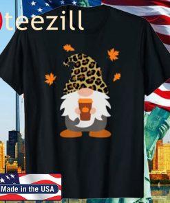 Fall Gnome with Pumpkin Spice Halloween Thanksgiving Cute Gift Shirt