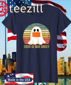 Vintage 2020 Boo Sheet Funny Ghost in Mask Vintage Halloween Costume T-Shirt