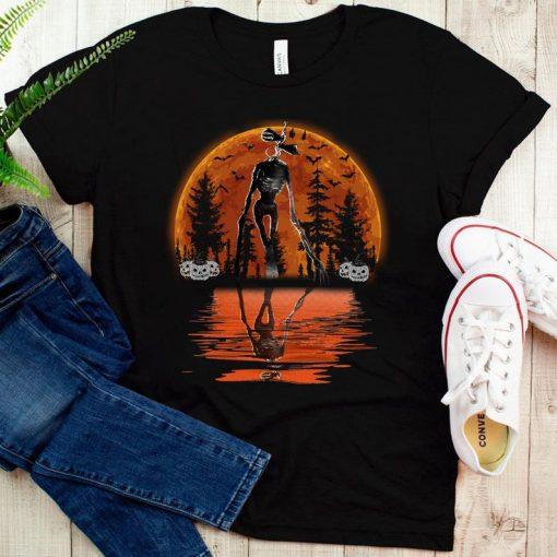 Vintage Sunset Siren Head Horror Scary Shirt, Halloween Horror, Girlie TShirt, Social Justice,Scary Friends T-Shirt