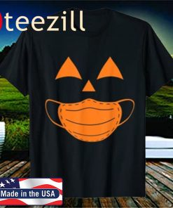 Halloween Pumpkin wearing a mask 2020 Jackolantern T-Shirts