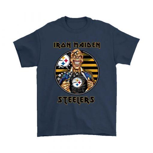 Pittsburgh Steelers Iron Maiden Halloween Shirt