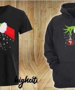 Grinch Hand San Francisco 49ers Merry Christmas 2020 Gift Shirt