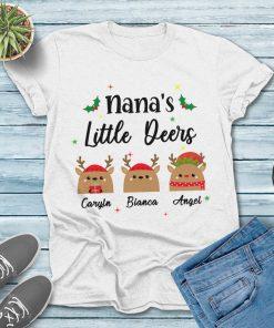 Nana's Little Deers Christmas Gift Tee