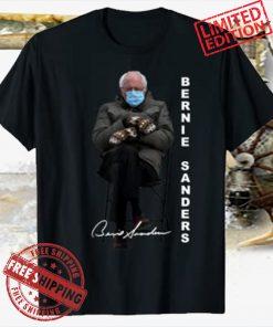 Bernie Sanders Sitting Inauguration Meme Mittens Funny Tee