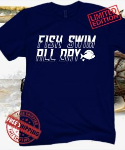 Fish Swim All Day T-Shirt - East Lansing Basketball