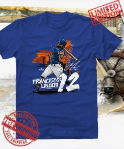 Francisco Lindor TShirt Cleveland MLBPA