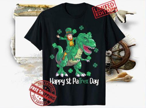 Happy St Patrex Day Leprechaun Kids Shirt