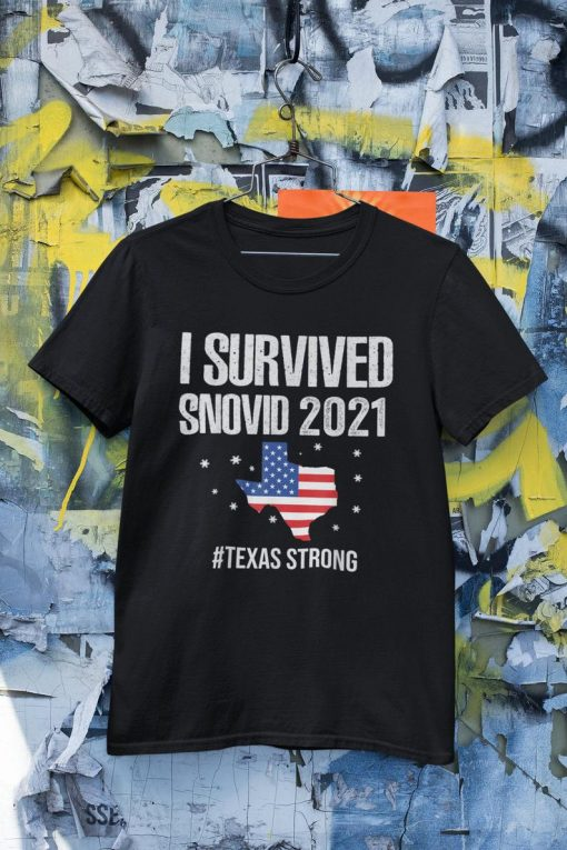 I Survived Snovid 2021, Texas Snowstorm Shirt, Texas Stay Strong Tee, Support For Texas