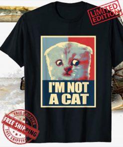 I'm Here Live I'm Not a Cat Meme Zoom Humor T-Shirt