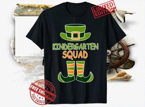 St Patrick's Day Funny Kindergarten Squad Leprechaun Tee Shirt