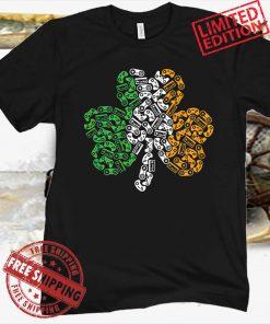St Patricks Day Shamrock Gaming Video Kids Shirt