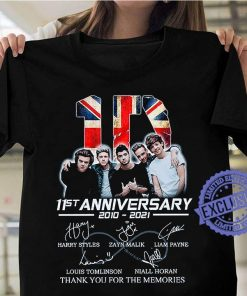 11st anniversary 2010 2021 thank you for the memories classic t-shirt
