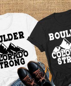 Boulder Colorado Strong, Support Boulder, Mountain design Short-Sleeve Unisex T-Shirt