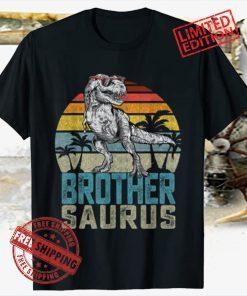 Brothersaurus T Rex Dinosaur Brother Saurus Family Matching 2021 Shirt