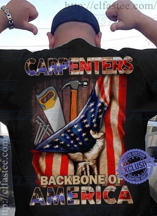 Men's Carpenters backbone of america shirt