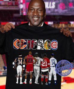 Official Chicago Signature Shirt Funny Payton, Jordan, Banks, Mikita, Thomas
