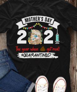 MOTHER DAY 2021 SLOTH BLACK SHIRT