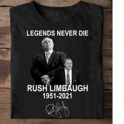 Rush Limbaugh Shirt Rip 1951-2021 Thank You For The Memories