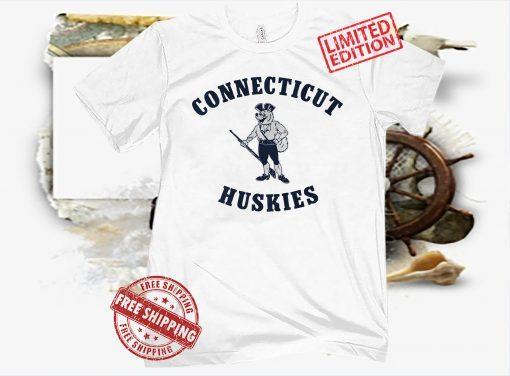 UCONN MUSKET HUSKY T-SHIRT UNIVERSITY OF CONNECTICUT