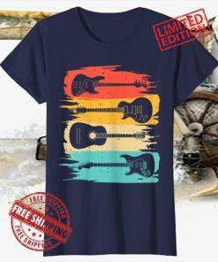 Vintage Guitar Gift For Men Women Music Band Guitarist Stuff T-Shirt