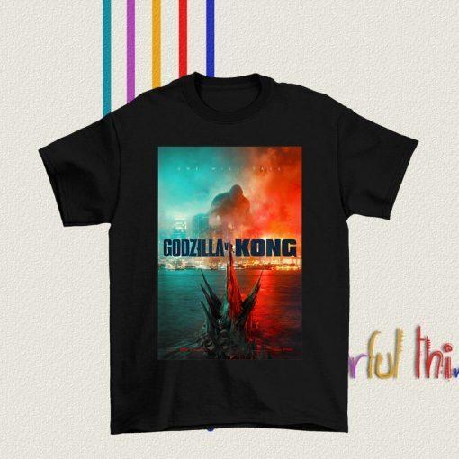 2021 Godzilla vs Kong T shirt, Godzilla vs Kong Official Poster T-Shirt
