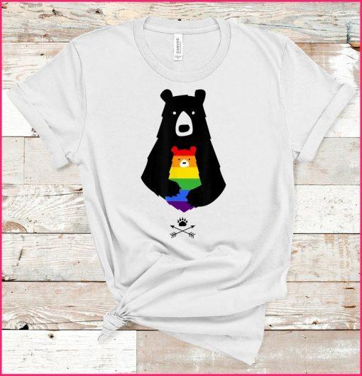 2021 LGBT Mom Mama Bear LGBT Shirt Mothers Gift Tee Shirt