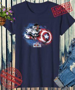2021 Marvel Falcon Winter Soldier Sam Captain America Paint Swipe T-Shirts