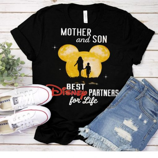 2021 Mother and son best disney partners for life shirt