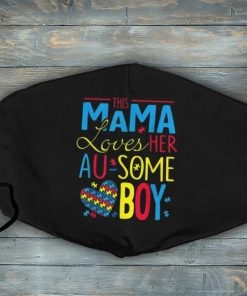 Autism Awareness Mask Women Aspergers Mom Son Boys Face Mask, Mother's Day Mask, Gift Mask For Autism Mom