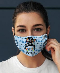 Autism Awareness Mom Life face mask, Autism face mask, Mothers Day mask, Cotton Face Mask, Washable Face Mask, Reusable Face Mask.