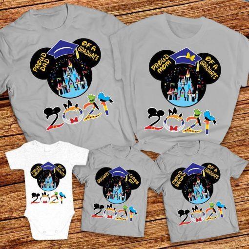 Class of 2021 Disney graduation Tshirt for Boy, Disney class of 2021 Tshirt, Proud Mom Dad Proud Squad of graduate Mickey graduation shirts