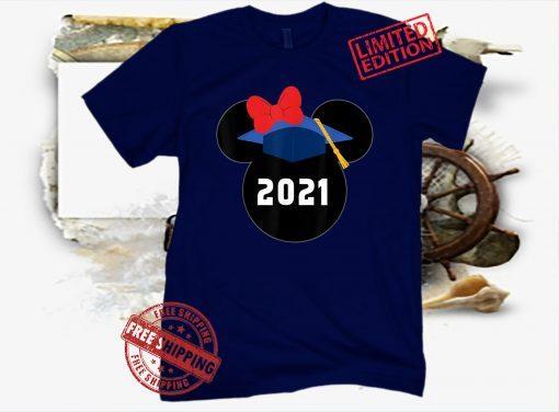 Disney Minnie Mouse Graduation Class of 2021 Premium Shot Shirts