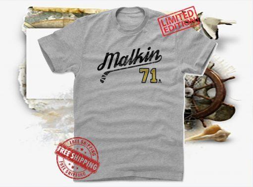 Evgeni Malkin 71 Script tshirt