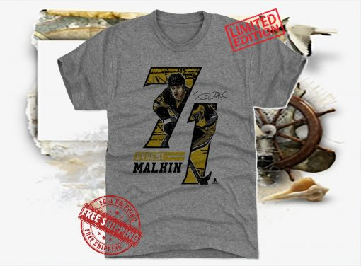 Evgeni Malkin Offset Tee Shirt
