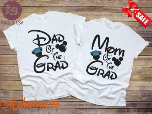 Family Disney Graduation Shirts, Mom of the Grad, Dad of the Grad, Theme Park Graduation Shirt, 2021 Grad Tee, Class of 2021 Family Shirt