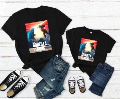 Godzilla vs Kong Kids Shirt Godzilla Vs Kong Kids Shirt Designed and Sold by keramikpe, Gift For Baby, Birthday Gift