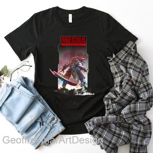Godzilla vs Kong Poster Mechagodzilla T-Shirt