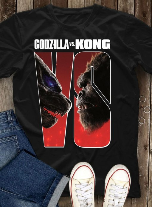 Godzilla vs Kong Shirt - 2021 team Godzilla Tshirt, team Kong Tshirt, Kong vs Godzilla poster tee, birthday gifts, gifts idea design